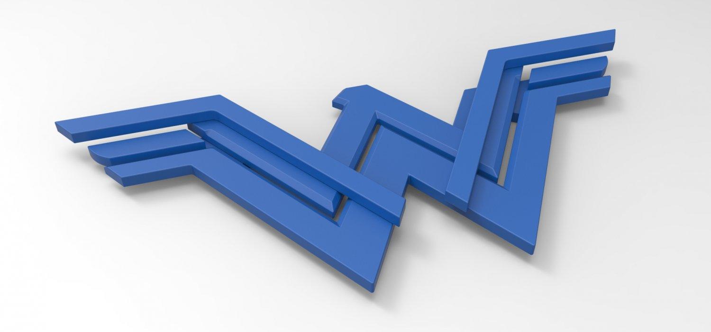 wonder woman logo for 3d printing 3d model