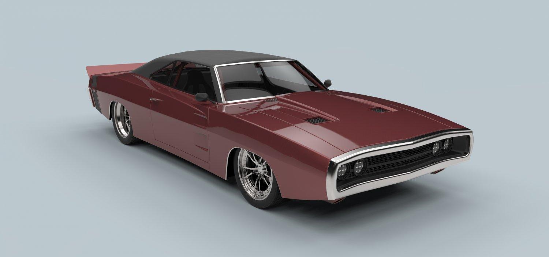Dodge Charger 1970 3D Model in Old Cars 3DExport