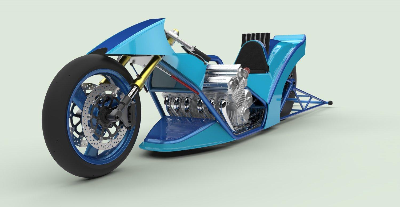 Top Fuel Bike 3d Model In Motorcycle 3dexport