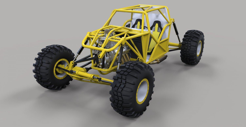3D-Printed Scorpion Micro-Crawler   Rock crawler