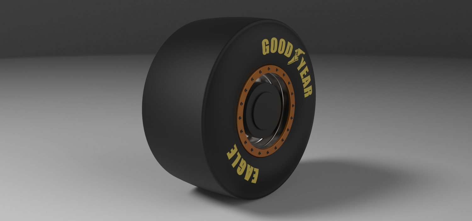 Rear wheel from Top fuel dragster 3D Model in Parts of auto 3DExport