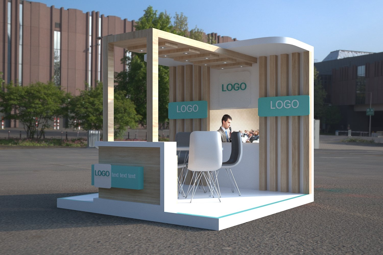 Exhibition Stand Sketchup : Exibition stands booths d cad model library grabcad