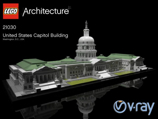 LEGO UNITED STATES CAPITOL BUILDING 21030 3D Model in Toys 3DExport