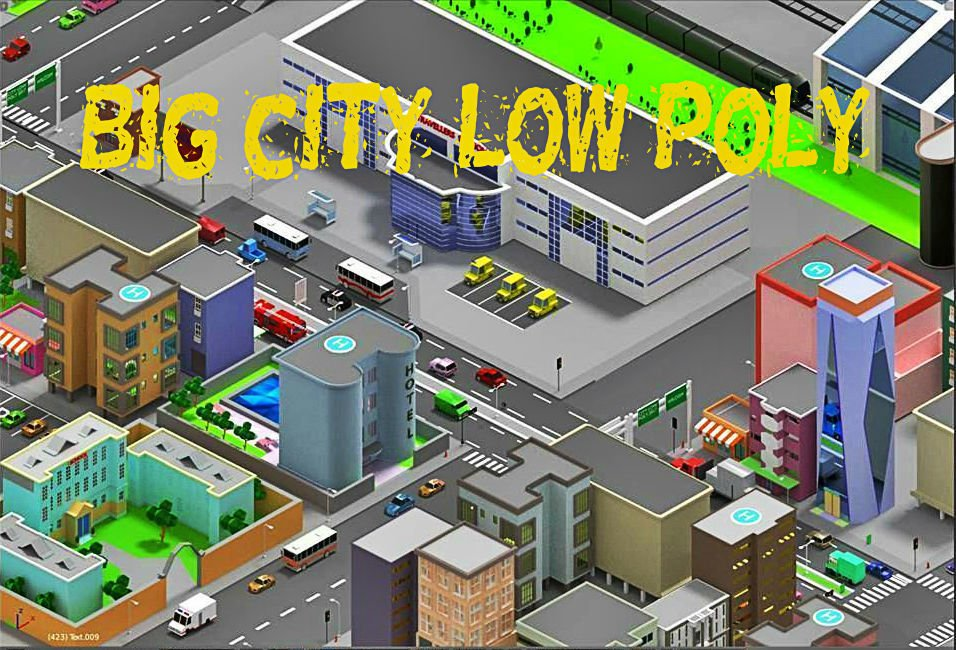 SimplePoly Urban - Low Poly Assets 3D Model in Cityscapes 3DExport