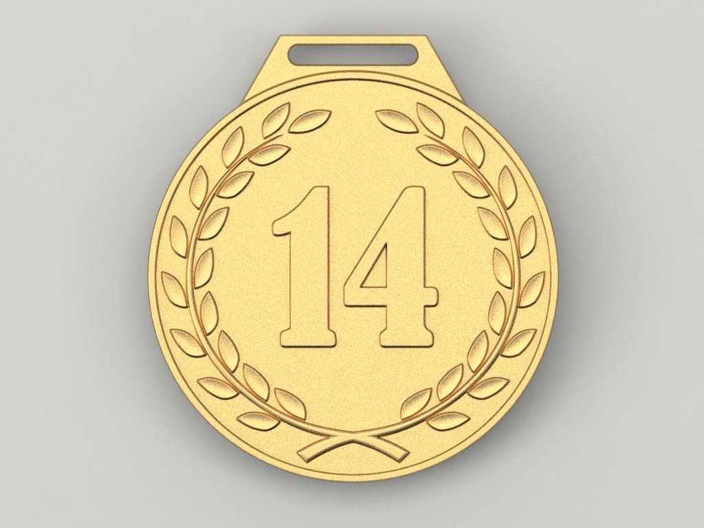 14 Years Anniversary Medal 3d Model In Coins And Badges 3dexport