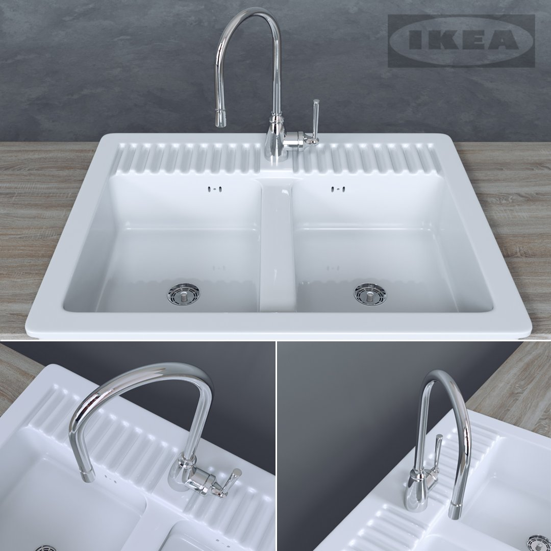 Washstand DOMSJO IKEA 3D Model in Cookware Tools 3DExport