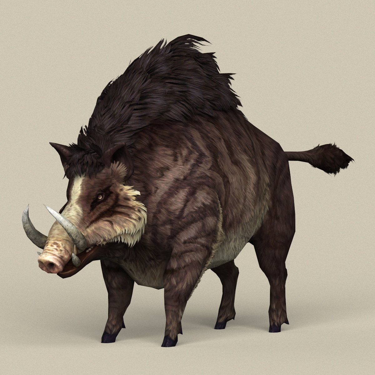 Game Ready Fantasy Boar 3D Model in Wildlife 3DExport