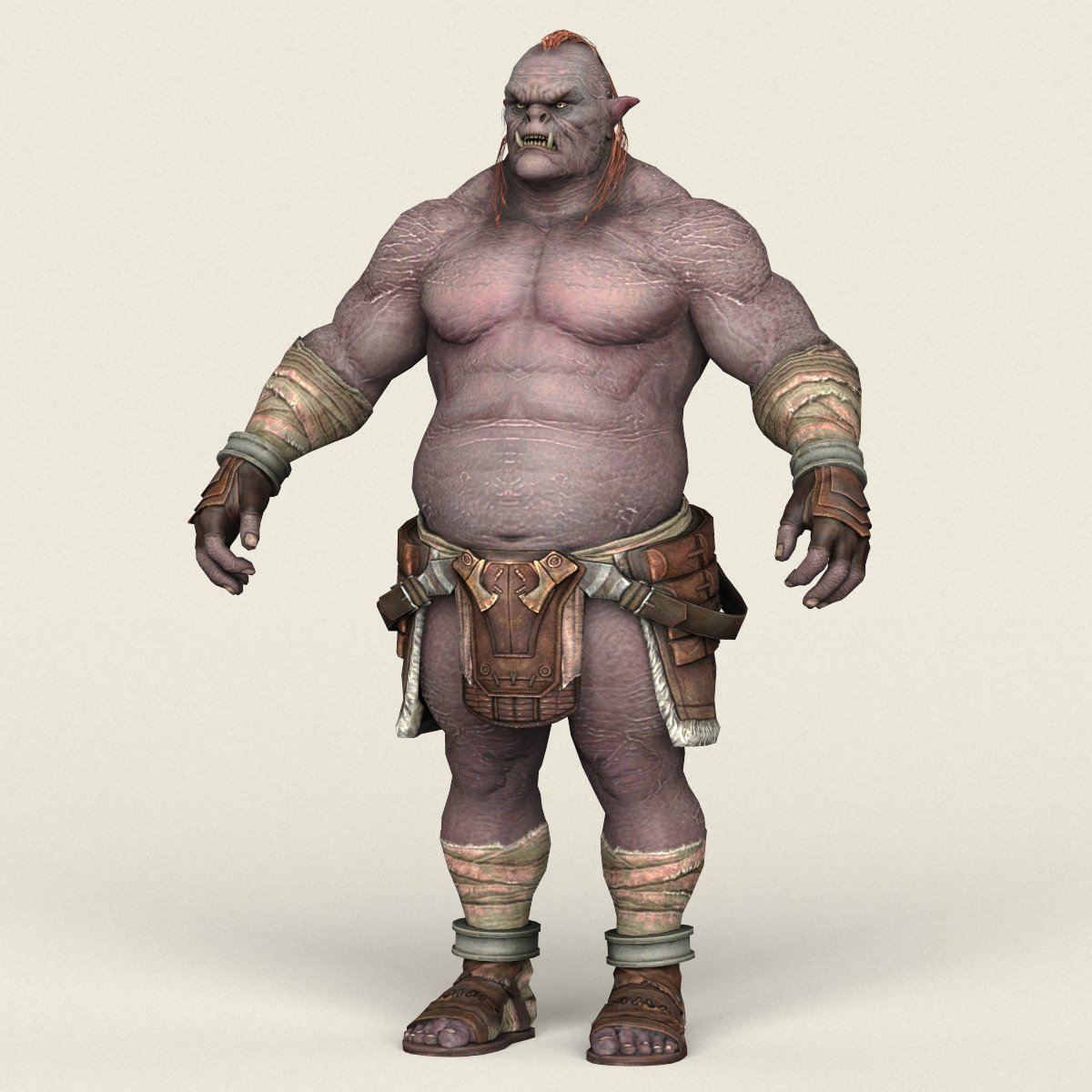 Game Ready Orc Character 3D Model in Monster 3DExport