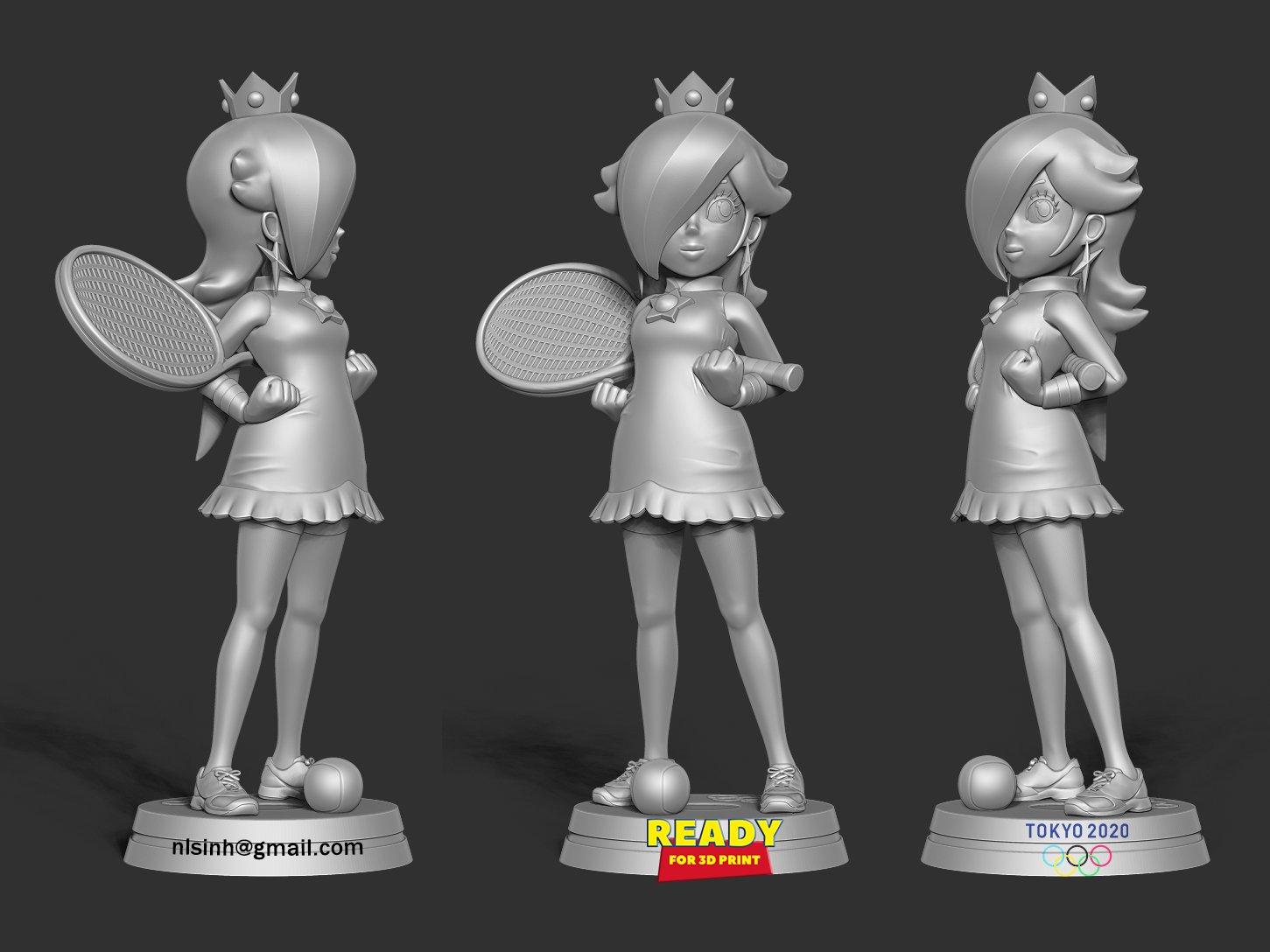 Rosalina - Olympic Tokyo 2020 3D Model in Woman 3DExport