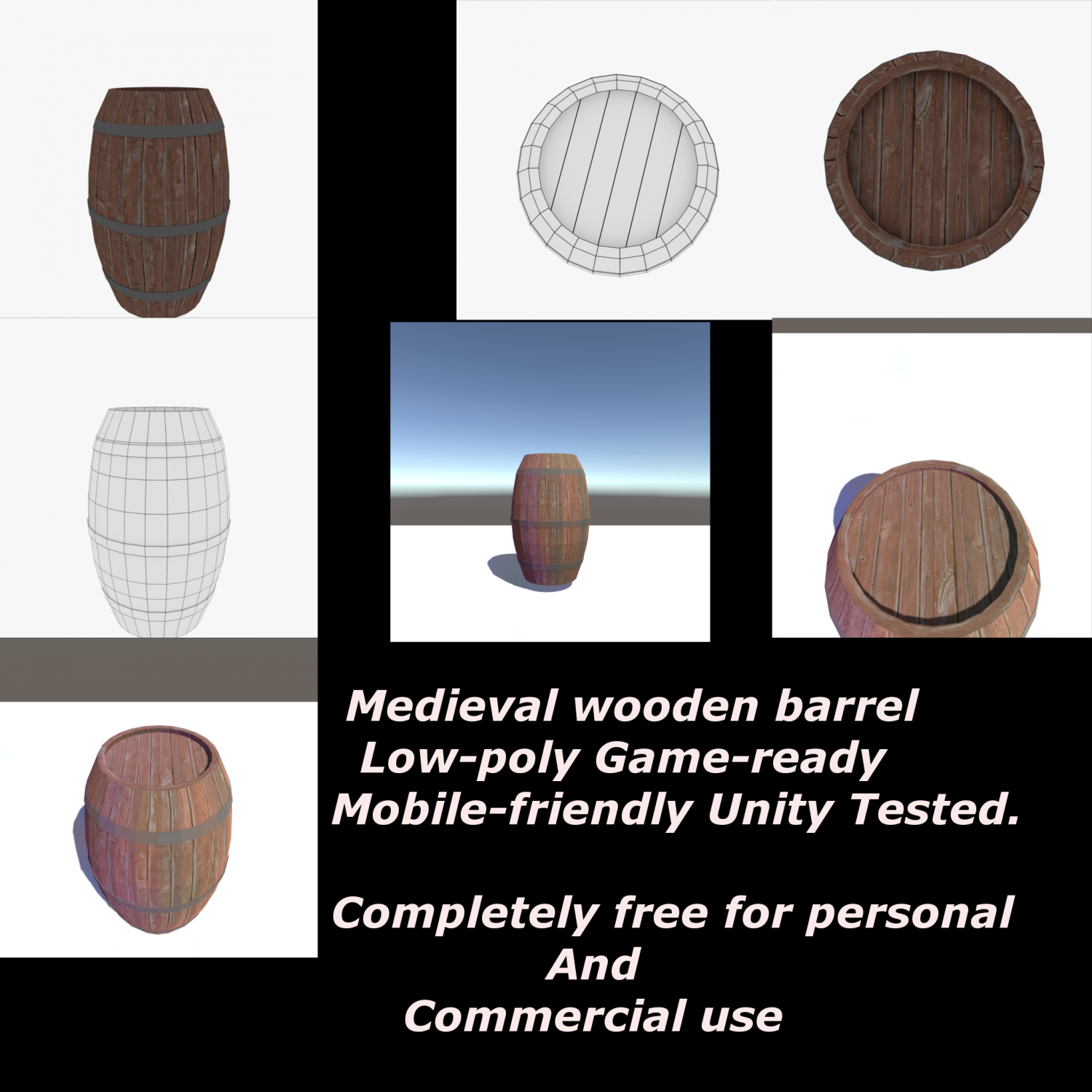 The Wooden Barrel Free 3D Model in Shipping Containers 3DExport