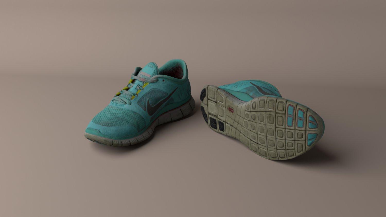 1dacadbbd33d Worn Nike Free Run 3 sneaker shoe low poly 3D Model in Clothing ...