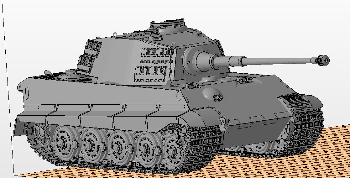 Tiger II Knigstiger tank 3D Model in Tank 3DExport