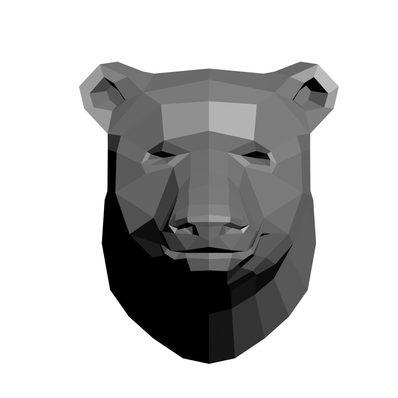 Low-poly bear model 3D Model in Accessories 3DExport