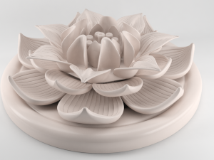 Lotus Flower Figurine 3D Model