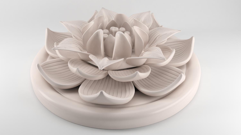 Lotus flower figurine 3d model in figurines 3dexport izmirmasajfo