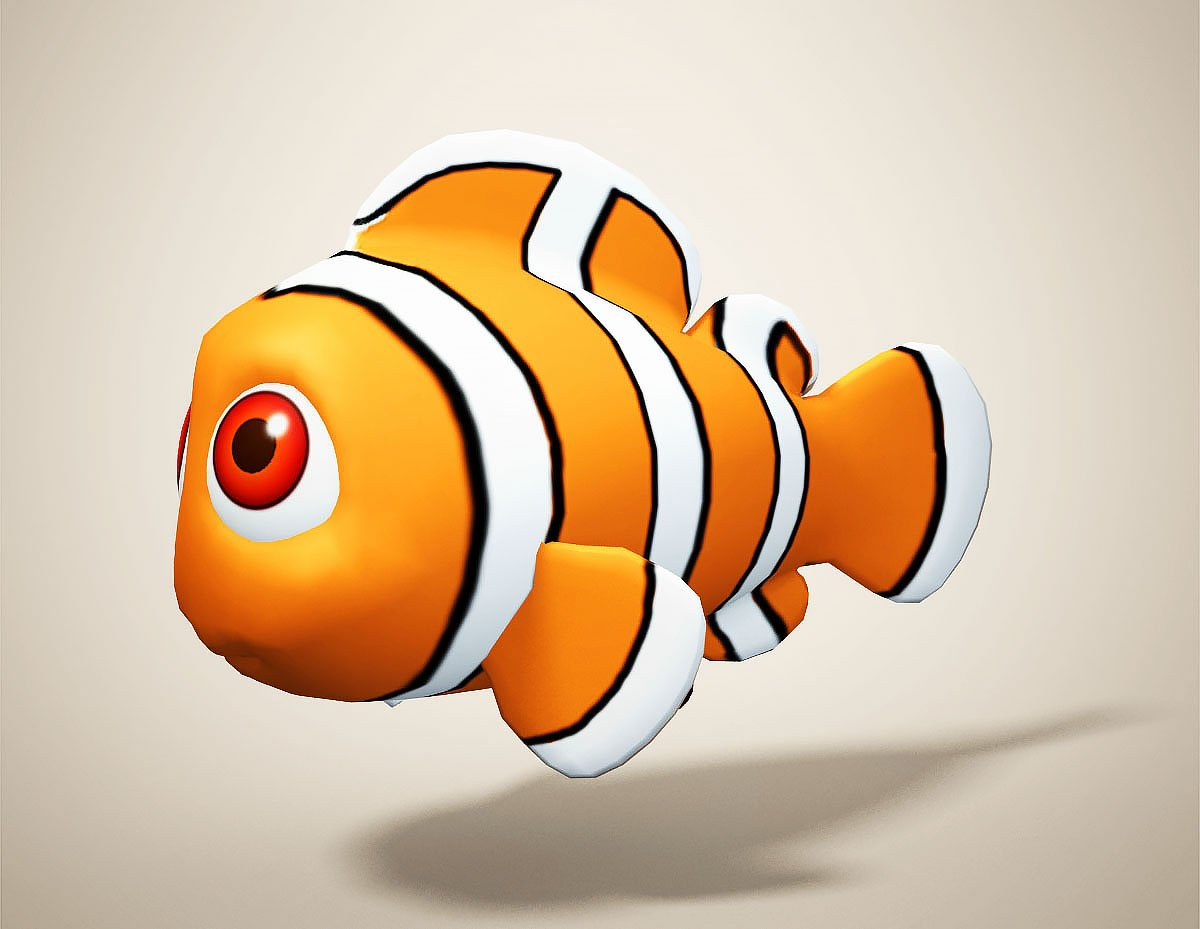 Clown Fish 3D Model in Fish 3DExport