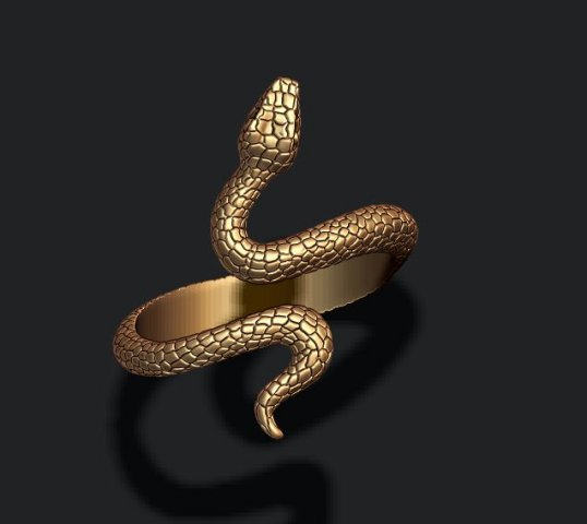 Snake ring 3D Model in Rings 3DExport