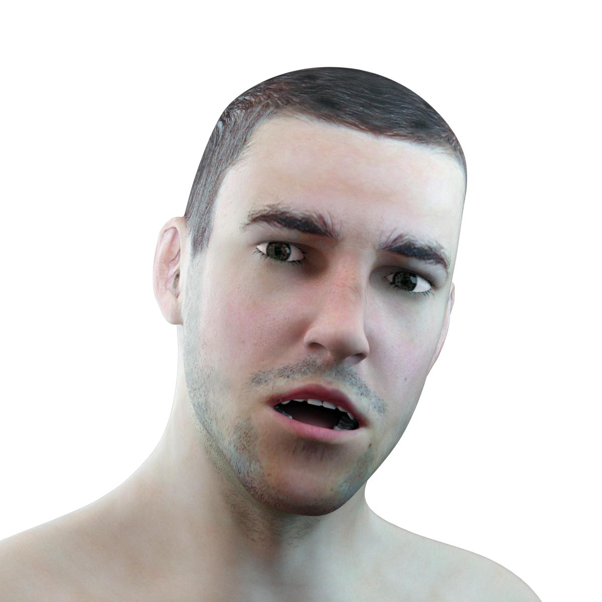 Male Head Rigged model 3D Model in Man 3DExport
