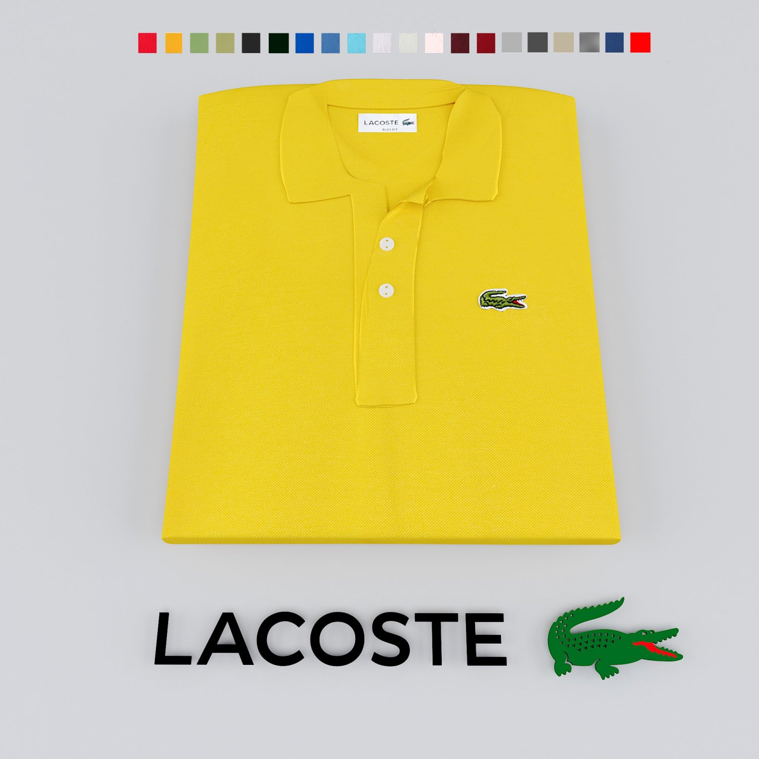 Polo Model In And 3dexport 3d T Shirt Clothing Lacoste Logo q53A4RjL