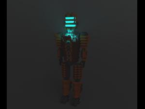 Isaac Clarke Dead Space Voxel Model 3D Modell