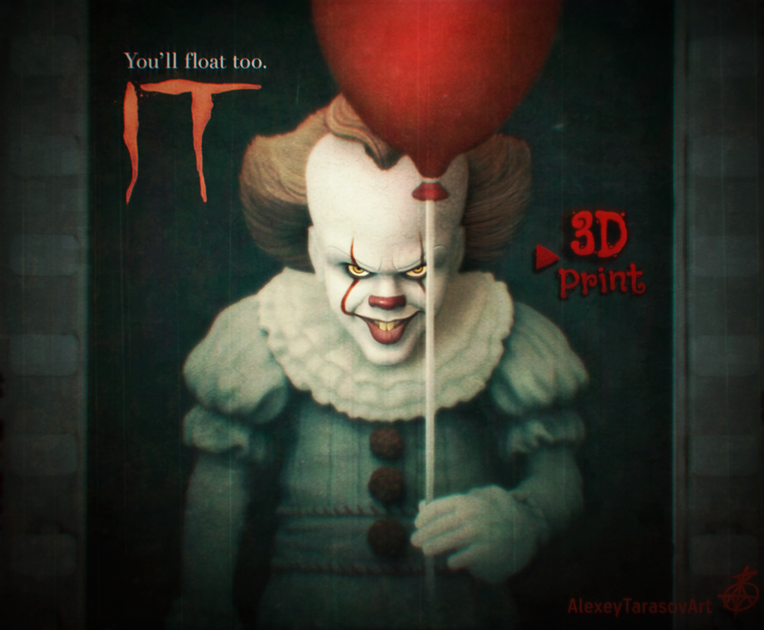 pennywise it 3dモデル in 小さな置物 3dexport