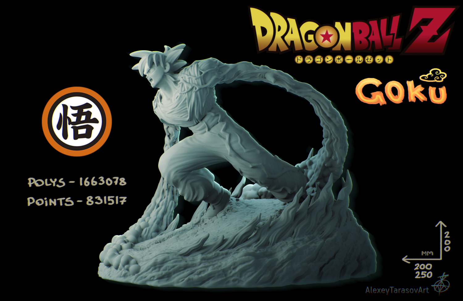 Ball Figurines Dragon 3dexport Z Stand Modèle In Goku 3d 0nON8PkXw