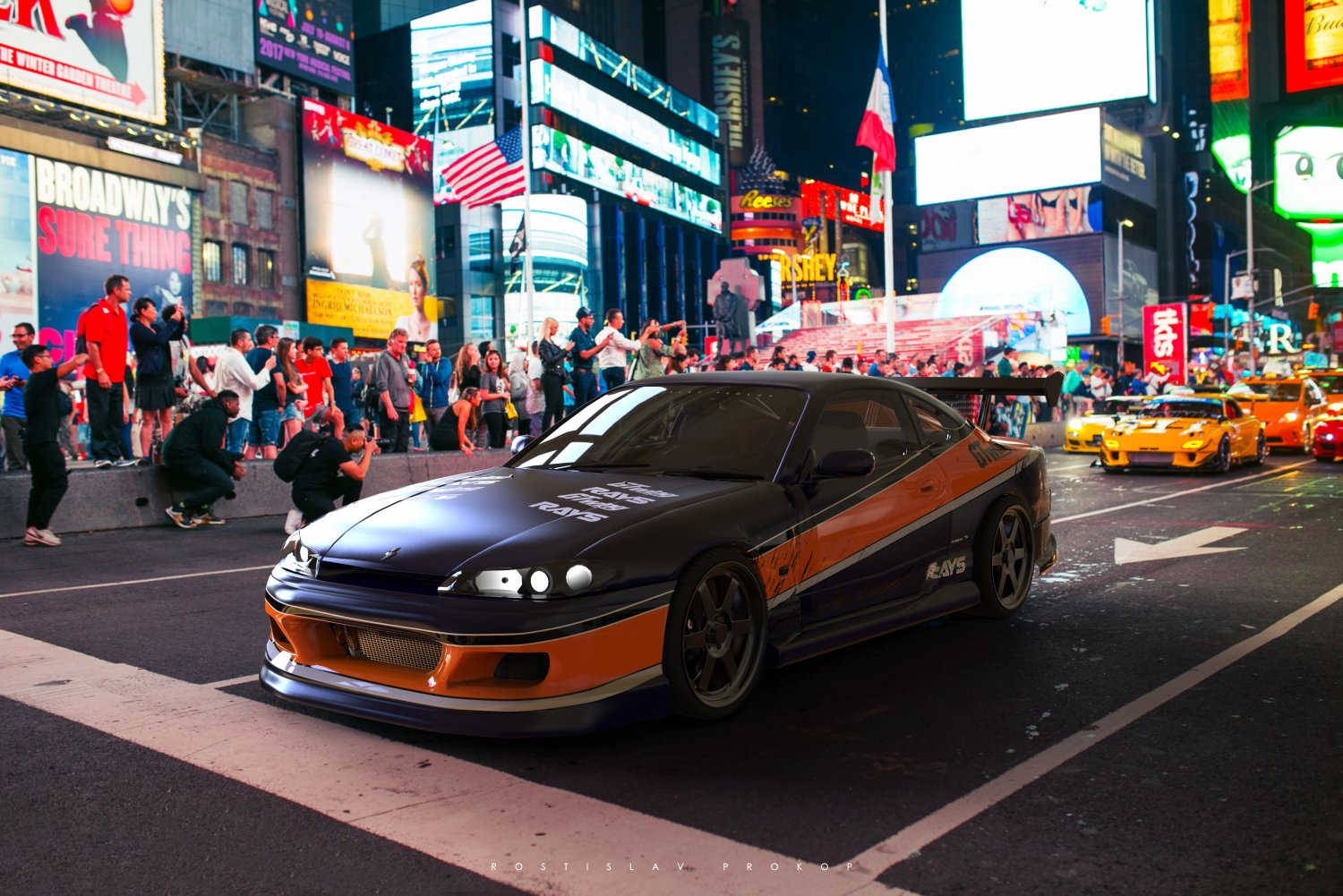 Nissan S15 Silvia - Mona Lisa - Fast and Furious Tokyo Drift 3D Model