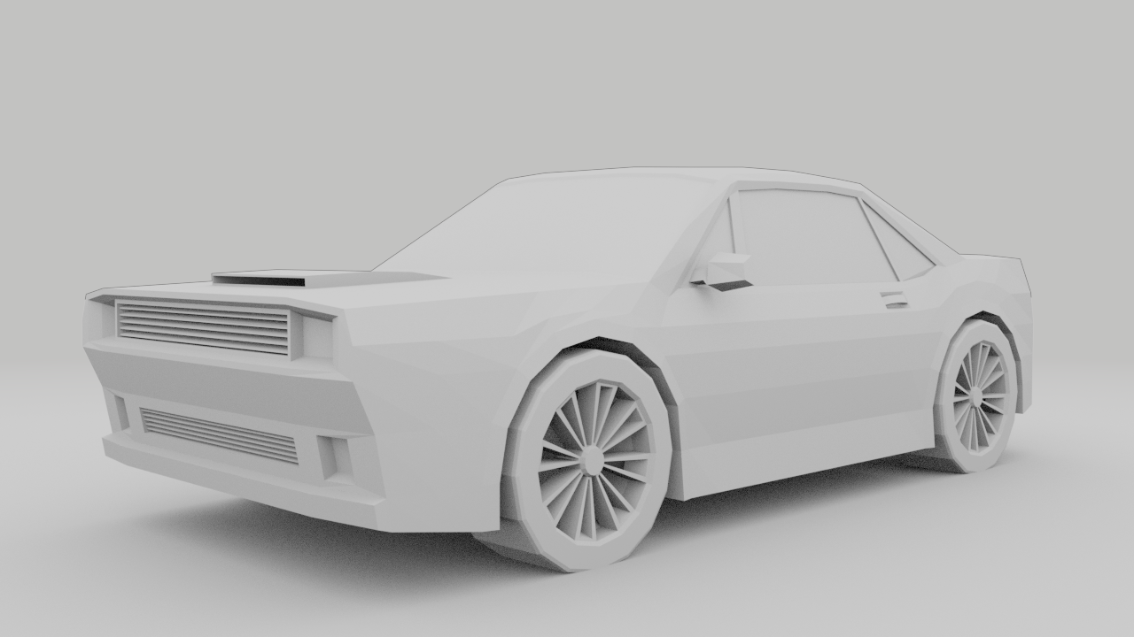 Low Poly Car Free 3D Model in Old Cars 3DExport
