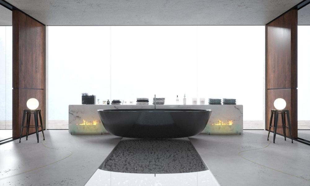 BLACK BATH 48D Model In Bathroom 48DExport Delectable Black Marble Bathroom Model