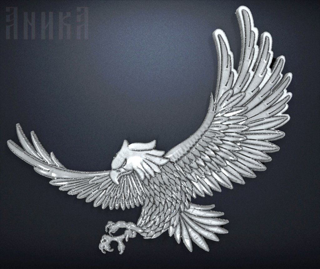 Badge Eagle 3D Model in Signs and Logos 3DExport
