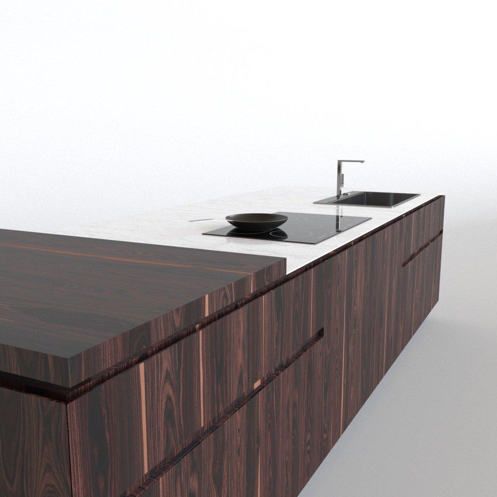 Cesar Elle kitchen island 3D Model in Kitchen 3DExport