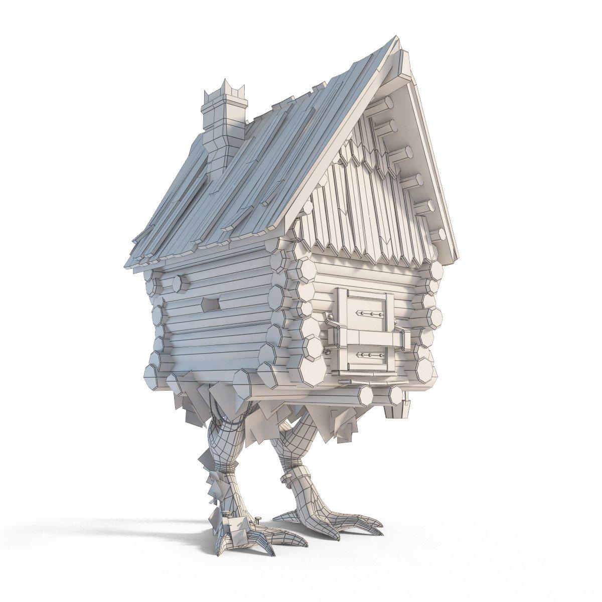 The hut on chicken legs baba yaga modello d in edifici dexport