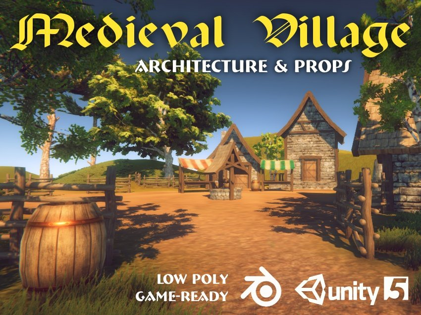 Medieval Village Pack 3D Model in Fantasy 3DExport