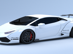 Lamborghini Huracan 2015 Liberty Walk 3D Model