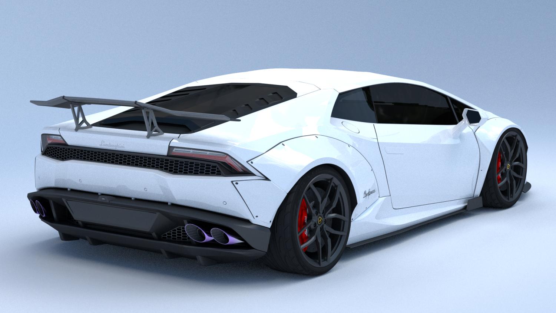 Lamborghini Huracan 2015 Liberty Walk 3D Model