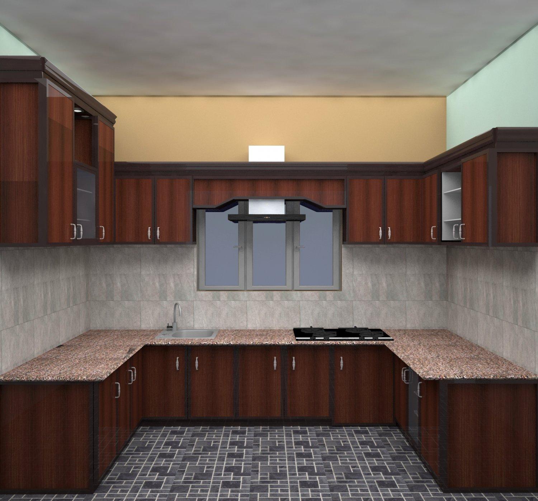Modular Kitchen With Nice Mica Work 3d Model In Kitchen 3dexport