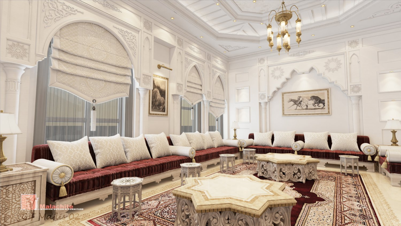 Arabic Majlis 3D Model in Living Room 3DExport