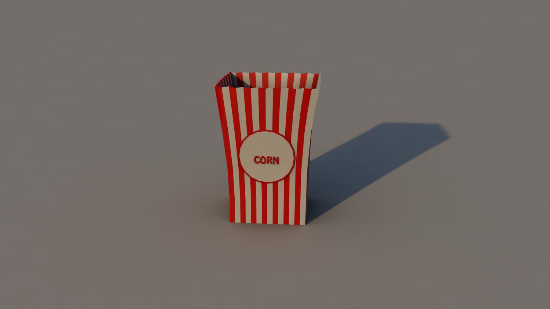 Popcorn 3D Model in Miscellaneous 3DExport