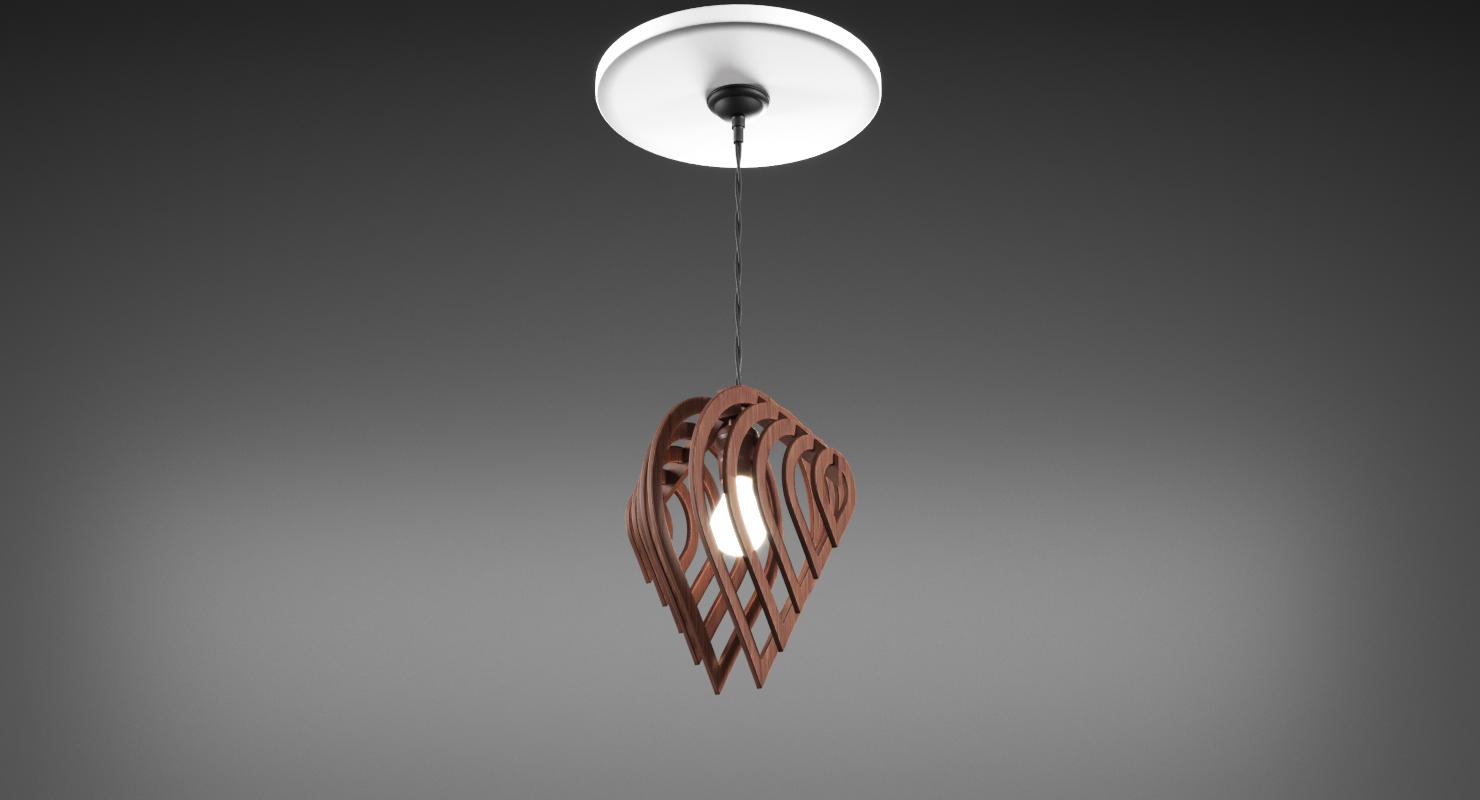 Wooden designer ceiling lamp modelo 3d in lmpara de techo 3dexport aloadofball Image collections