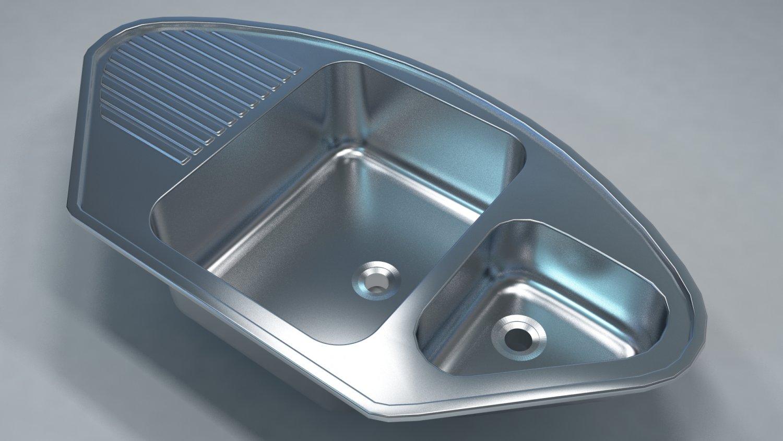 Kitchen Sink 3D Model in Kitchen 3DExport