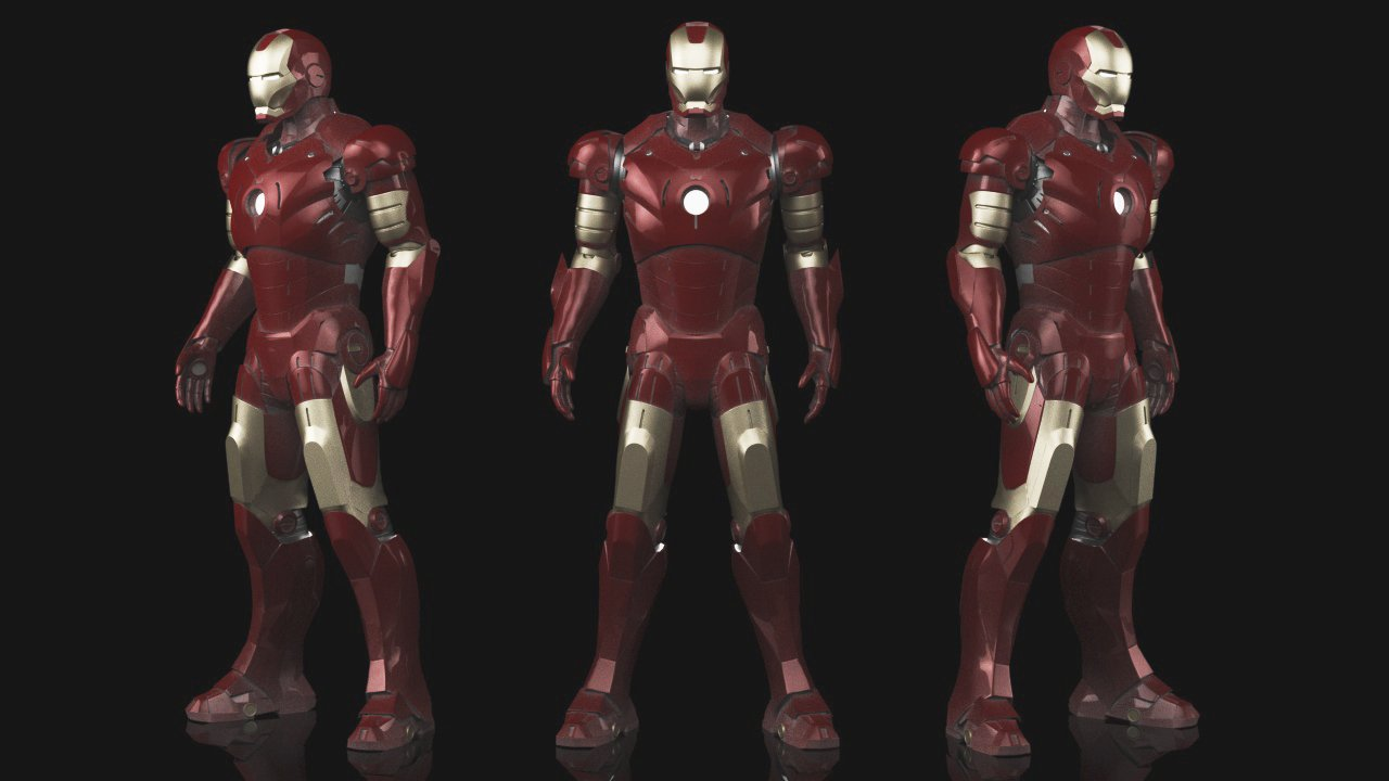Iron Man Mk3 - Fully Rigged 3D Model in Robot 3DExport