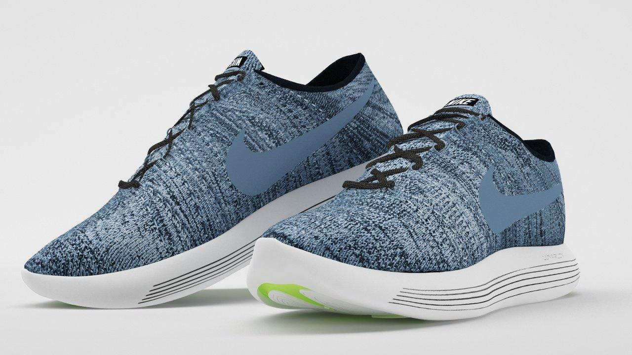 f8f53a354b82 Nike LunarEpic Low Flyknit 2 Blue 3D Model in Other 3DExport