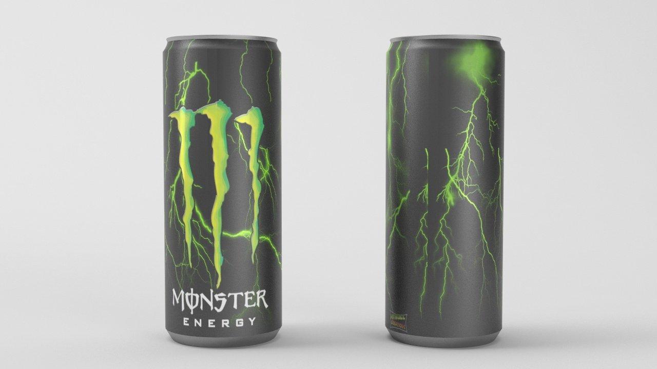 Monster Energy Drink 3D-Modell in Getränk 3DExport