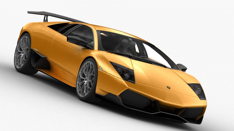 Lamborghini Murcielago SV 2009 HQ interior 3D Model in Sport Cars 3DExport
