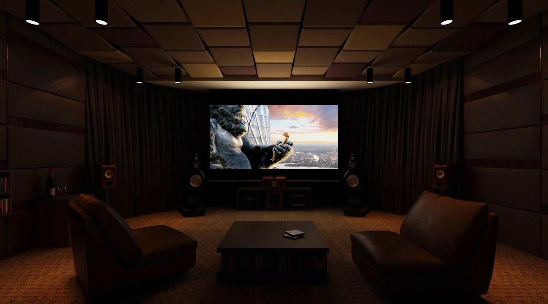 Nd Home Theatre 3d Model In Living Room 3dexport
