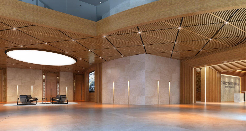 big hall of office d model in hall dexport.