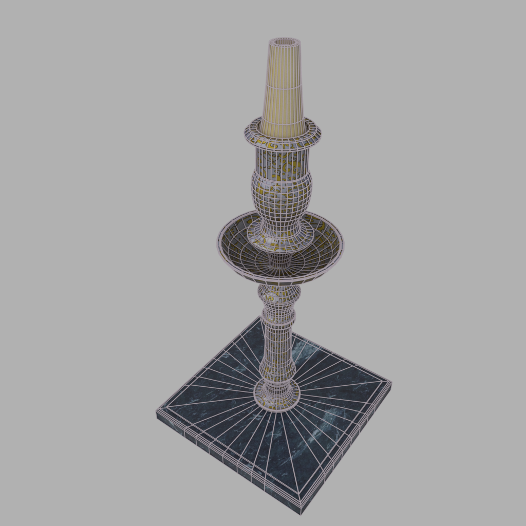 Candlestick on a marble stand 3D Model in Lamp 3DExport