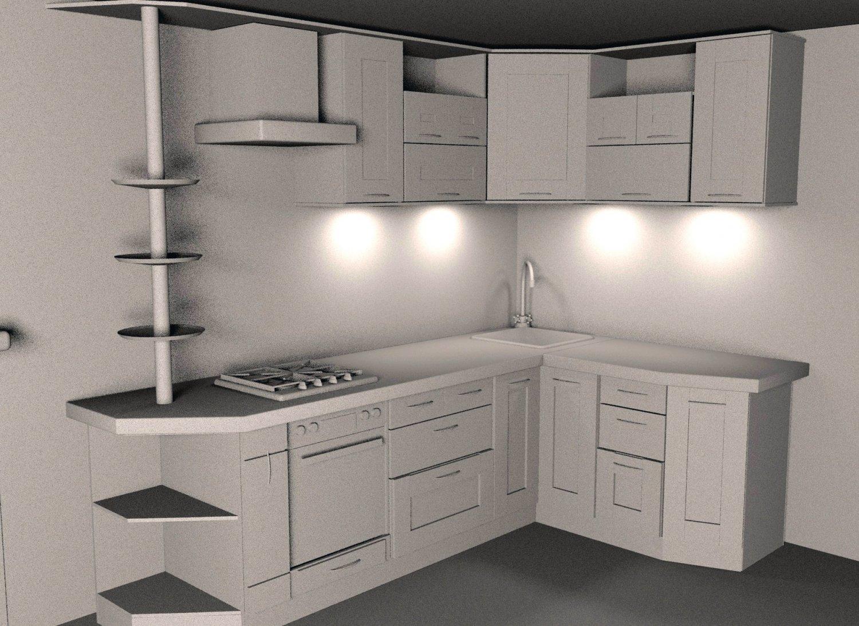 Kitchen Set 3d Model In Kitchen 3dexport