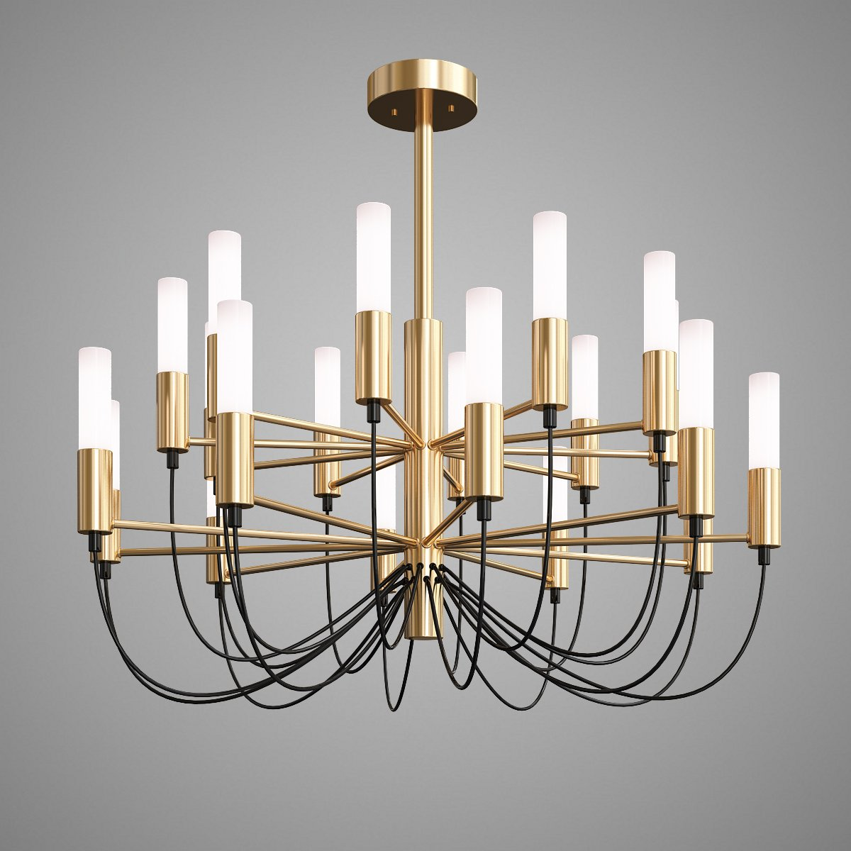 Luxury lustre gold g9 led chandelier 3d model in ceiling lights 3dexport aloadofball Image collections