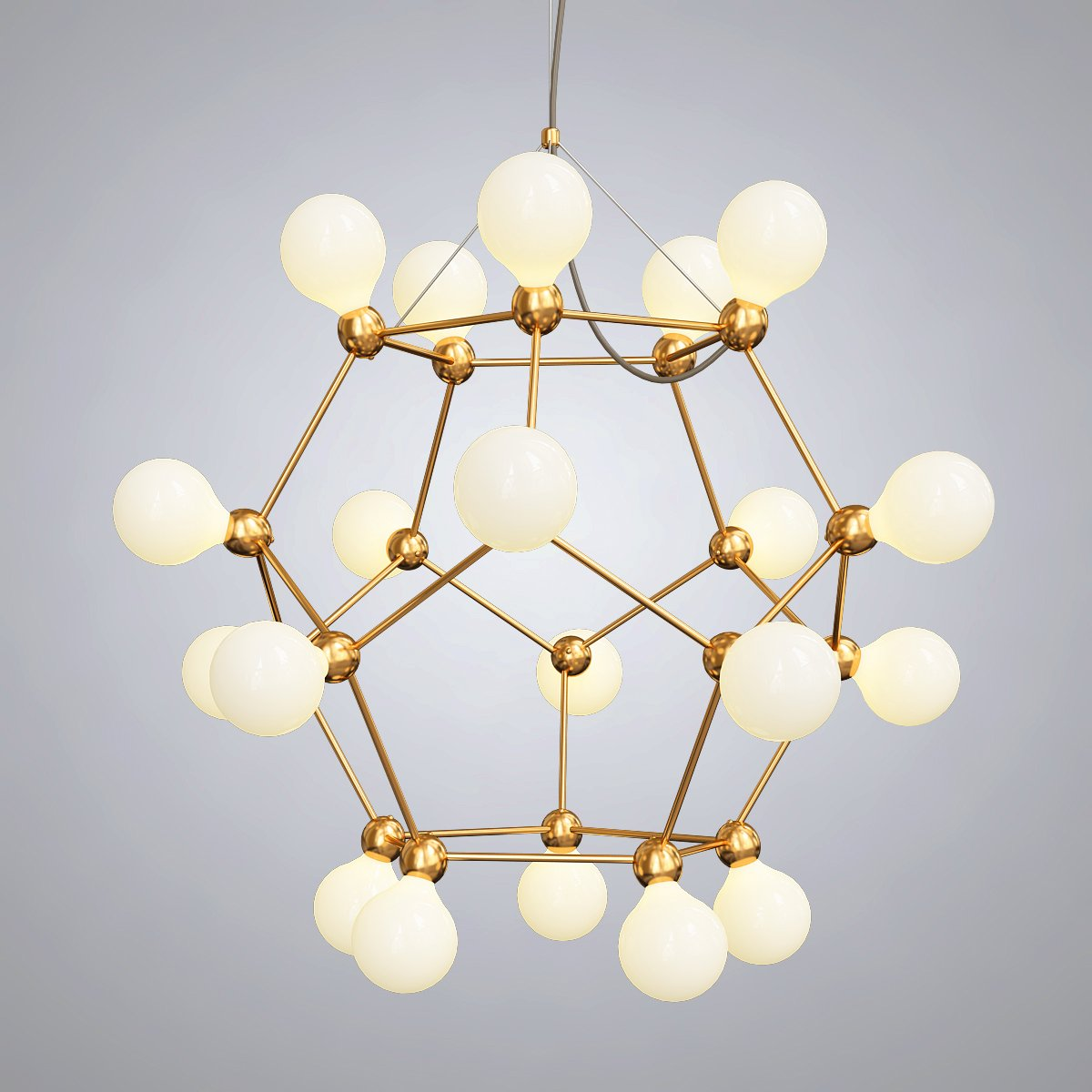 Post Modern Villa Led Geometric Chandelier 3D Model in Ceiling Lights  3DExport